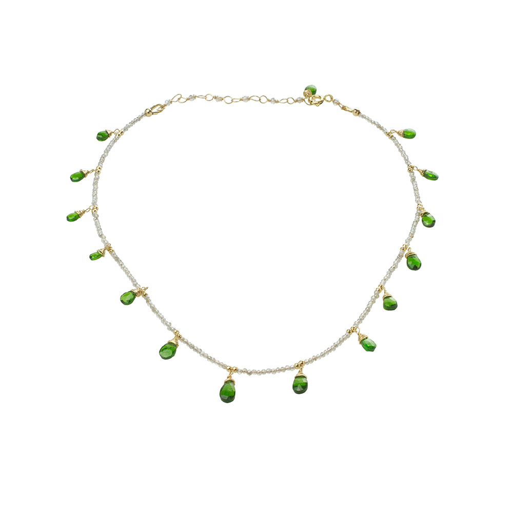 MTJ-CDN-001 - Labradorite Beaded Collar Necklace